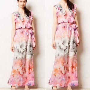 HD Paris Antro watercolor floral maxi pink dress 6